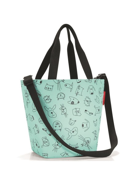 Сумка детская shopper xs cats and dogs mint